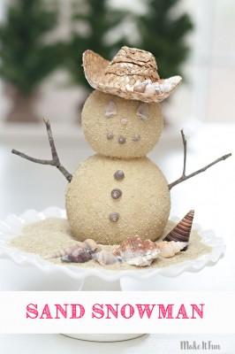 Snowman Craft - Beachy Style