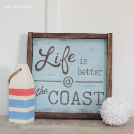 Create a beautiful DIY Wood Sign - Coastal Decor