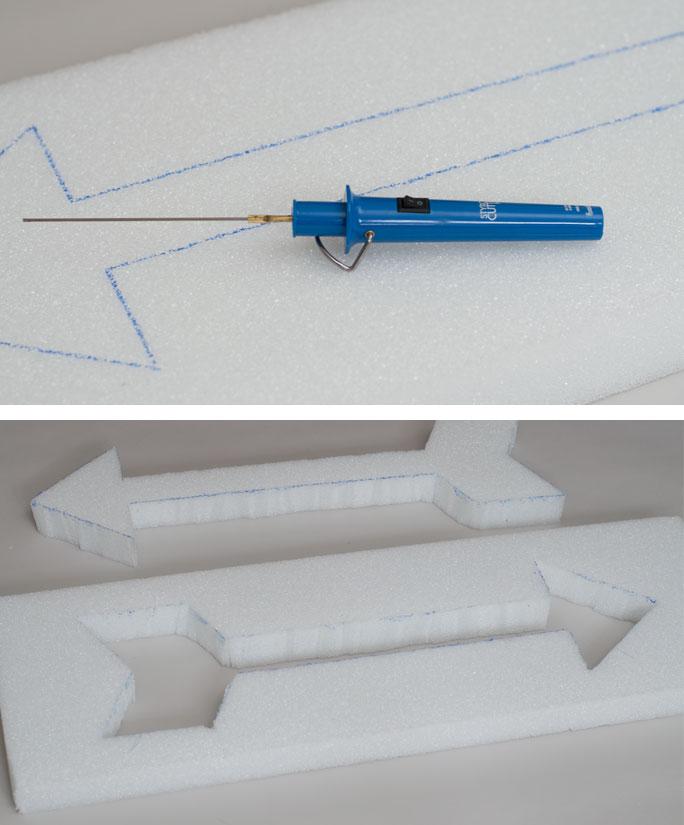 DIY Arrow Decor – Two Ways - Step 2