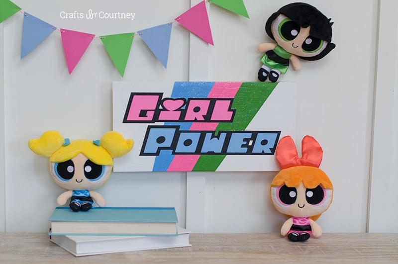 DIY Powerpuff Girls Craft
