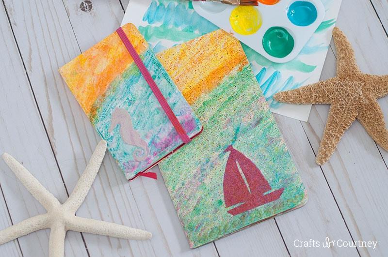 Create a Mixed Media Beach Travel Journal