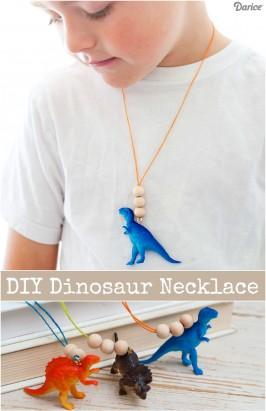DIY DINOSAUR NECKLACE FOR KIDS