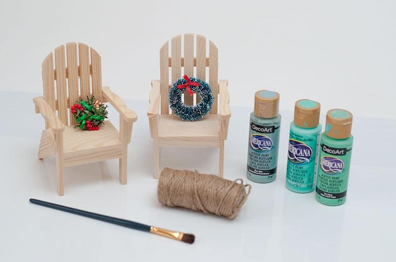 Beach Chair Coastal Ornament for Christmas