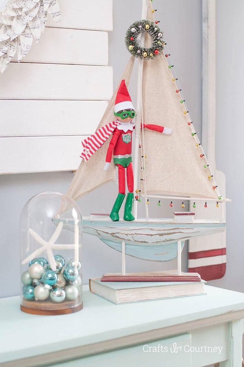 Over 15 DIY Coastal Christmas Ideas - Elf on the Shelf