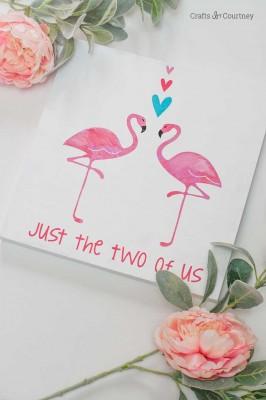 DIY Flamingo Wall Art