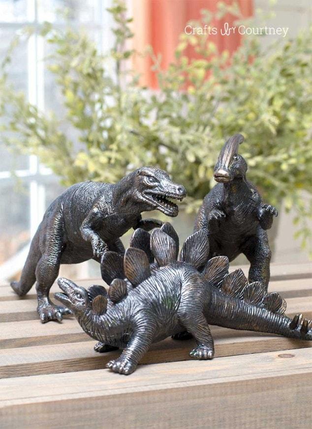 DIY Faux Bronze Dinosaur Project