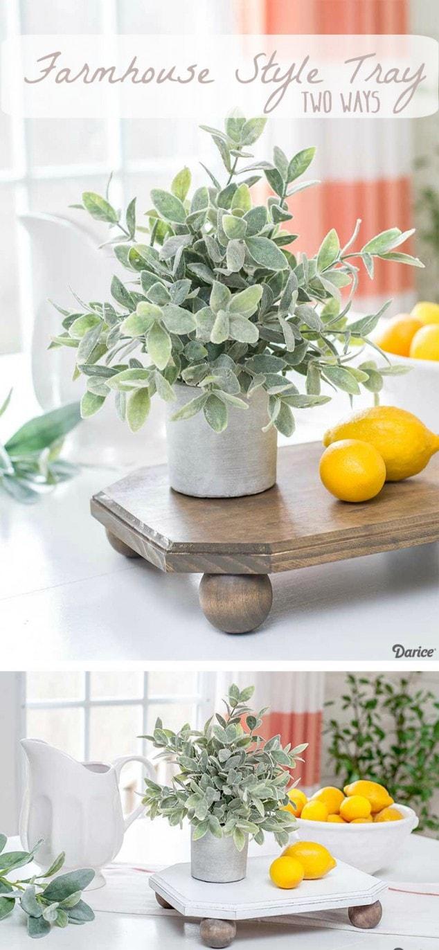 DIY Farmhouse Style Tray - Easy farmhouse decor