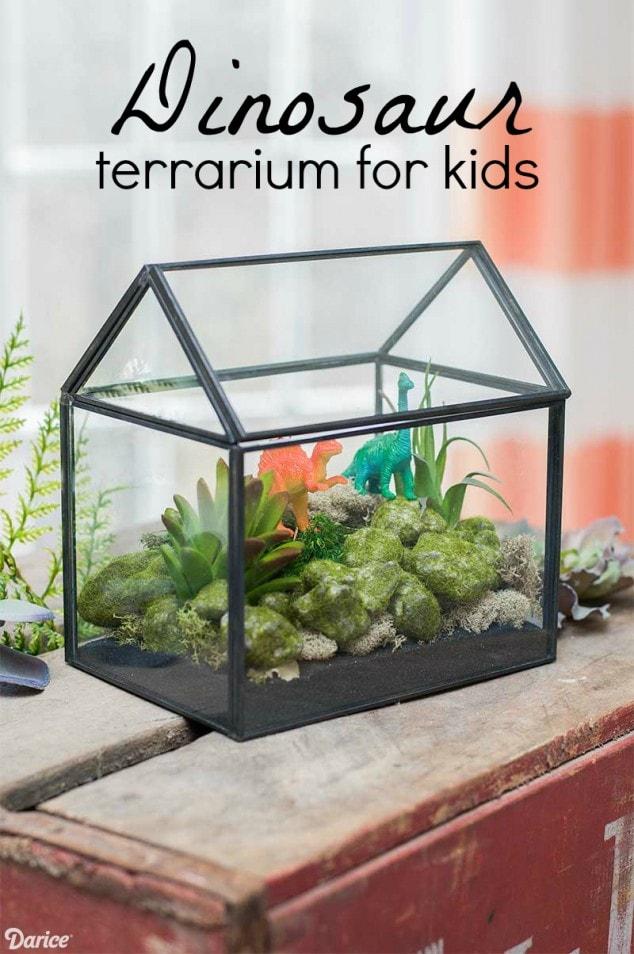 Dinosaur DIY Terrarium for kids