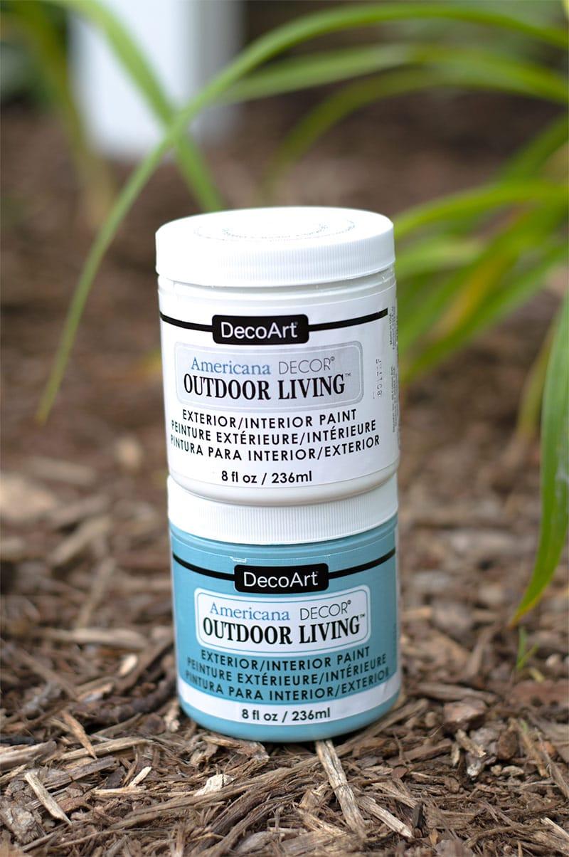 DIY Hose Stand for your Garden - DecoArt Outdoor Living Paint