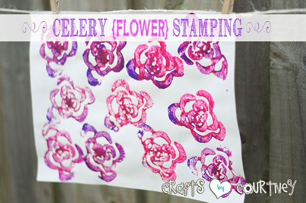 Create Celery Flower Stamping Art