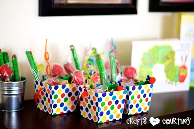 The Very Hungry Caterpillar Birthday Party: Party Favors