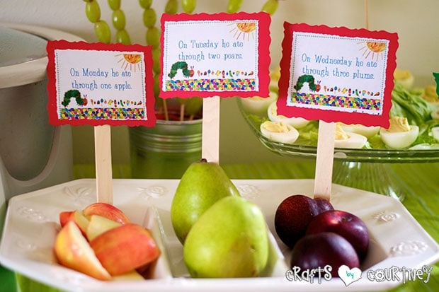 The Very Hungry Caterpillar Birthday Party: Caterpillar Food
