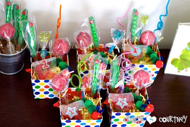 The Very Hungry Caterpillar Birthday Party: Party Favors: Caterpillar Treats