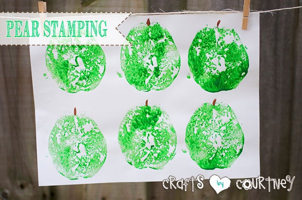 Make Fun Pear Stamping Art