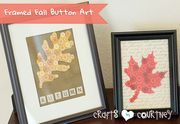 How-to Create Framed Fall Button Art Decor