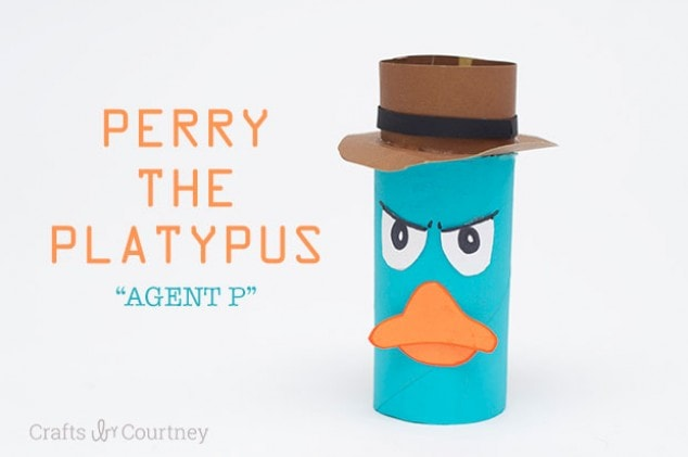 Toilet Paper Roll Perry the Platypus