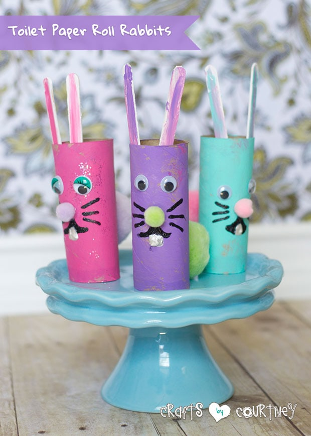 Toilet paper roll Easter rabbits craft