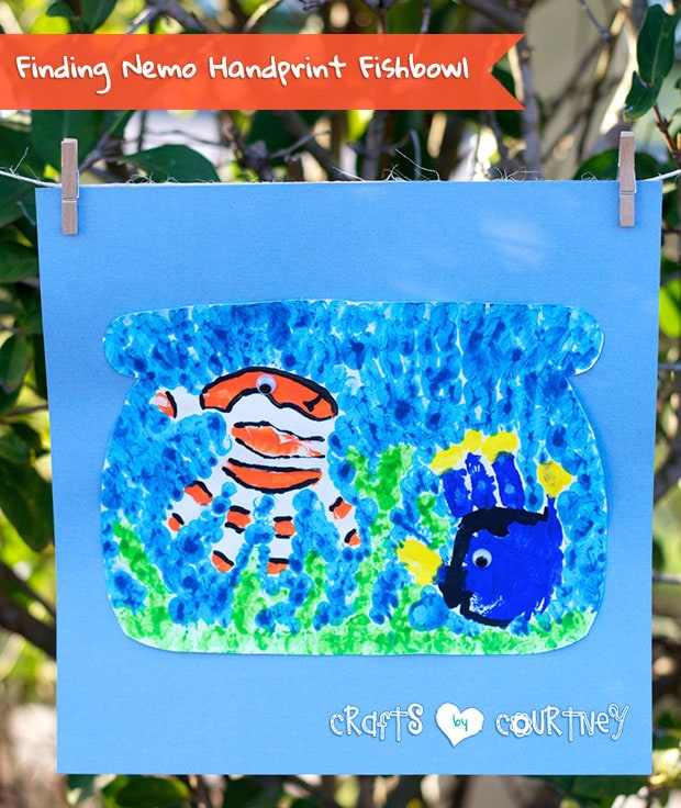 Make a Finding Nemo Inspired Handprint Fishbowl
