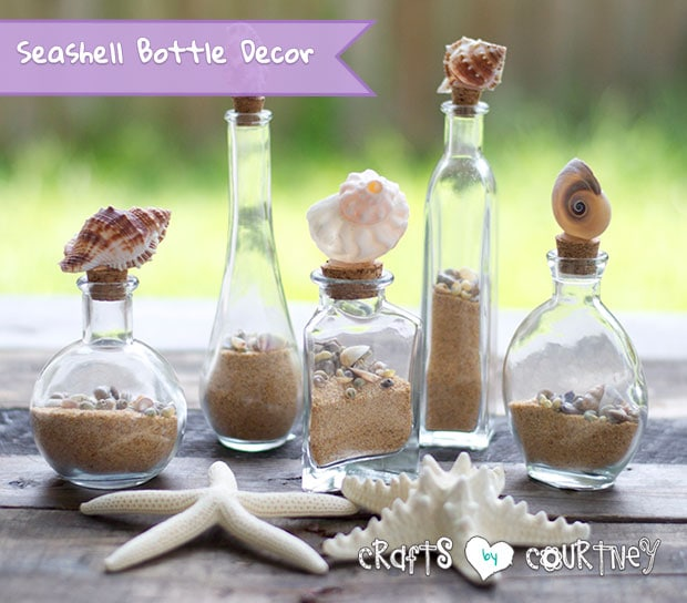 Cute Diy Home Decor Ideas: Easy-to Make Decorative Seashell Bottles
