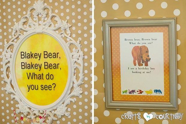 Brown Bear Birthday Party: Frames