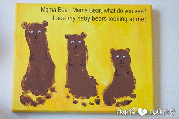 Brown Bear Birthday Party: Brown Bear Brown Bear Footprint Craft