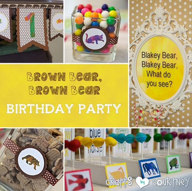 Brown bear birthday party