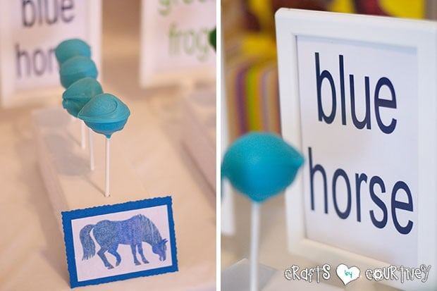 Brown Bear Birthday Party: Blue Horse Cakepops