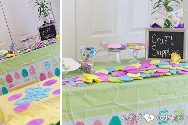 Easter Party: Craft Table