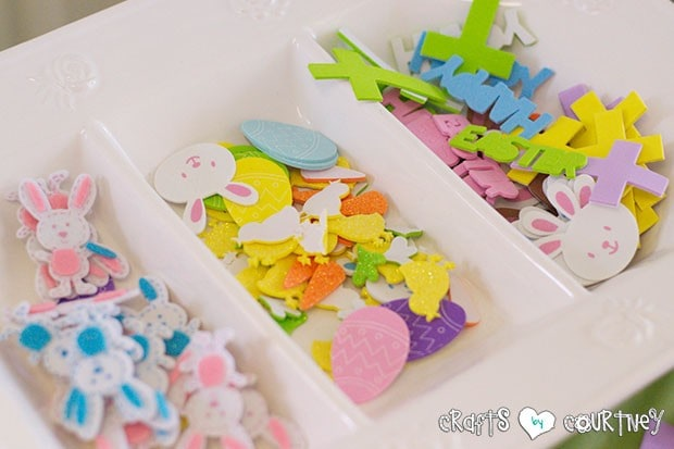 Easter Party: Craft Table: Easter Stickers