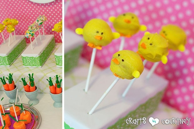Easter Party: Display Table: Cake Pop Chicks