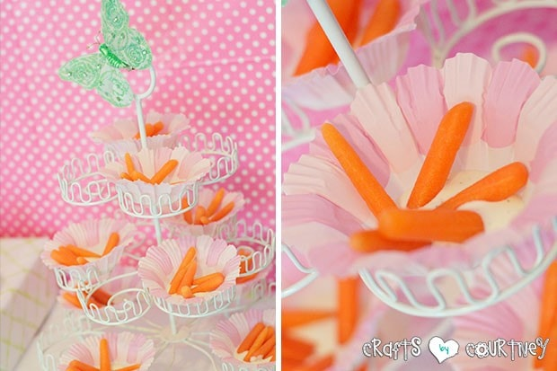 Easter Party: Display Table: Carrot Flower Snacks