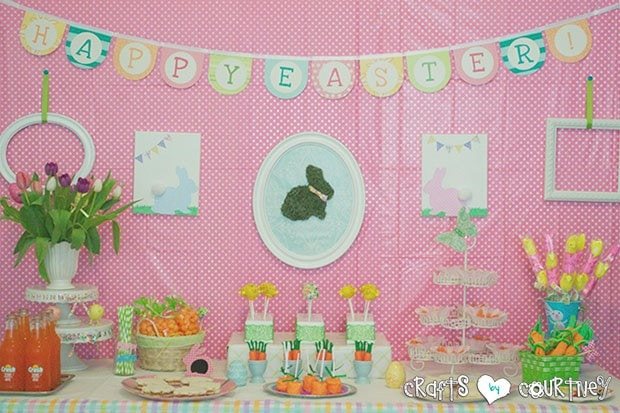 Easter Party: Display Table