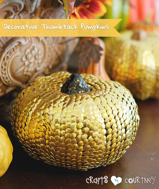 Craft a Decorative Thumbtack Pumpkin