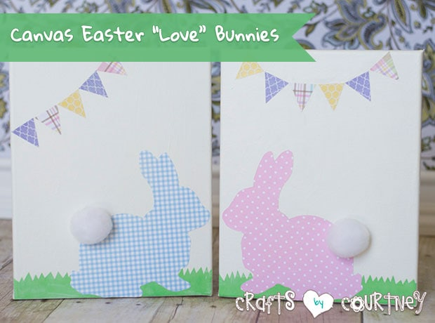 """How-to Make Canvas Easter """"Love"""" Bunny Decorations"""