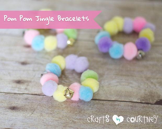 Craft Really Cute Pom Pom Jingle Bracelets