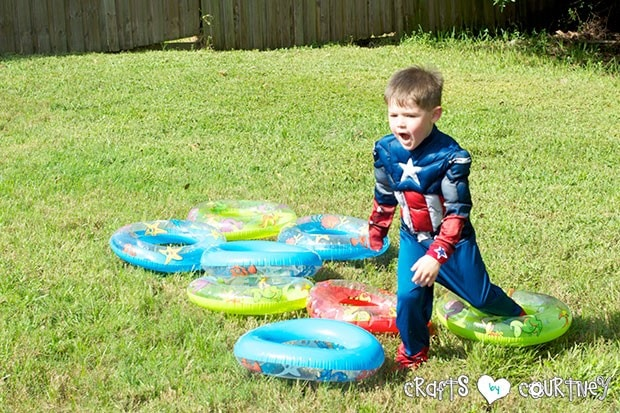 Superhero Birthday Party: Danger Room: Obstacle Course: Pool Floaties