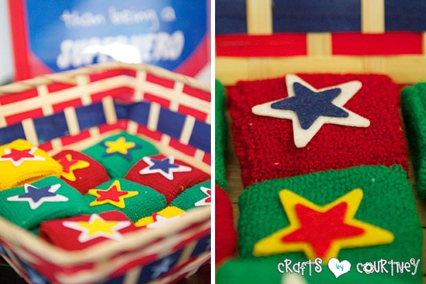 Superhero Birthday Party: Danger Room: Obstacle Course: Superhero Armbands