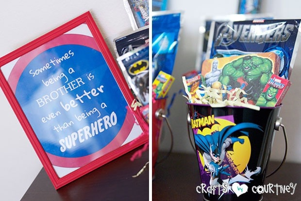 Superhero Birthday Party: Party Favor Station:Sometimes being a big brother is even better than being a superhero