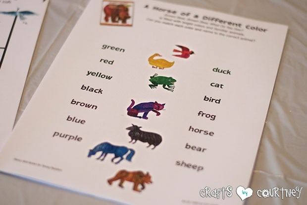 Brown Bear Birthday Party: Craft Table and Reading Time: Printable