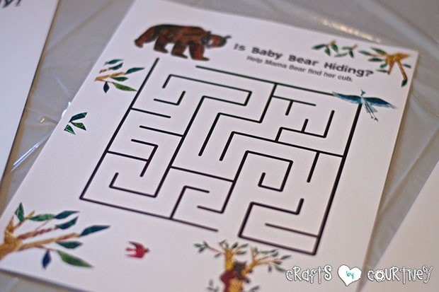 Brown Bear Birthday Party: Craft Table and Reading Time: Eric Carle Printable