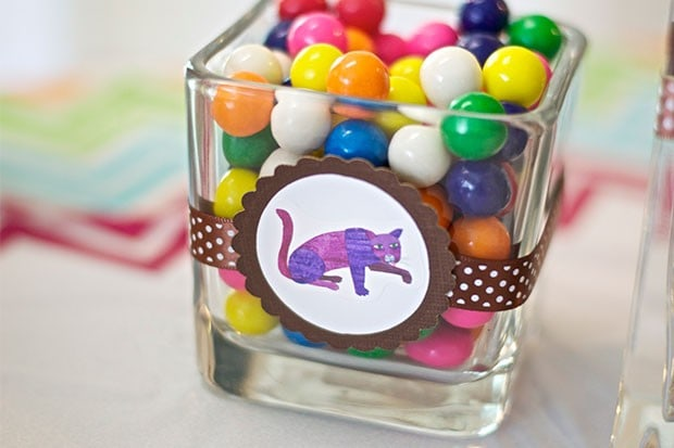 Brown Bear Birthday Party: Snack Table: Gumballs