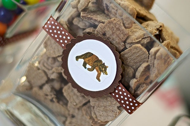 Brown Bear Birthday Party: Snack Table: Bear Cookies