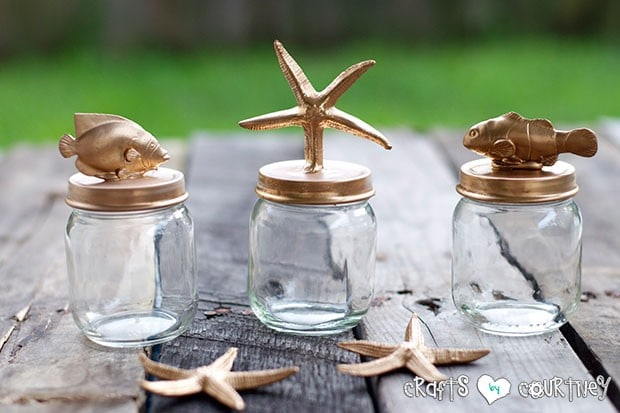 Beach Themed Baby Food Jar Decor: Finishing Touches