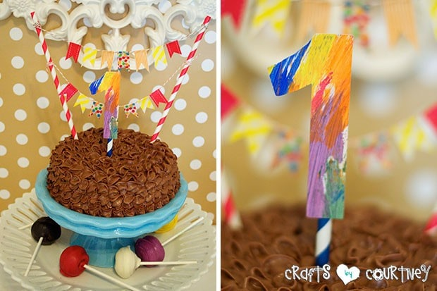 Brown Bear Birthday Party: Display Table: Smash Cake