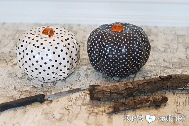 Mod Podge Pumpkins: Add Your Stem