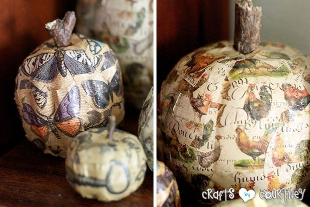 Mod Podge Pumpkin Craft: Finishing Touches