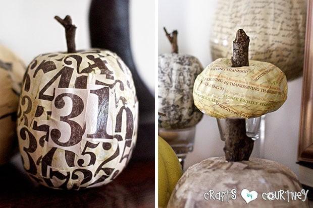 Mod Podge Pumpkin Craft