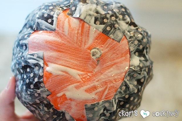 Mod Podge Pumpkins: Smooth Down Your Pumpkin