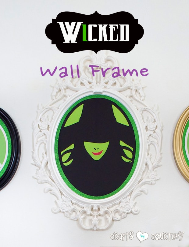 Wicked musical inspired Ikea wall frame