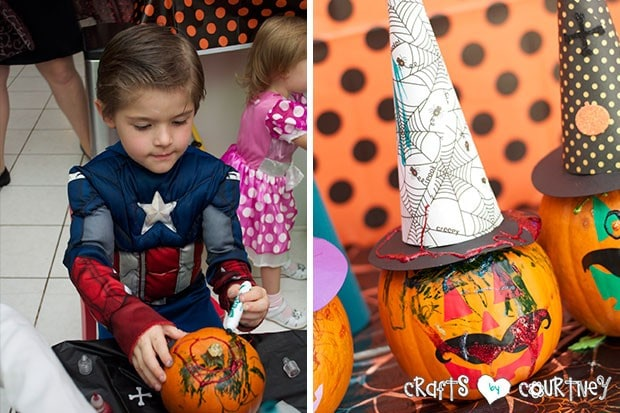 Witches and Wizards Halloween Pumpkin Decorating Party: Witches and Wizard Pumpkin Decorating Station